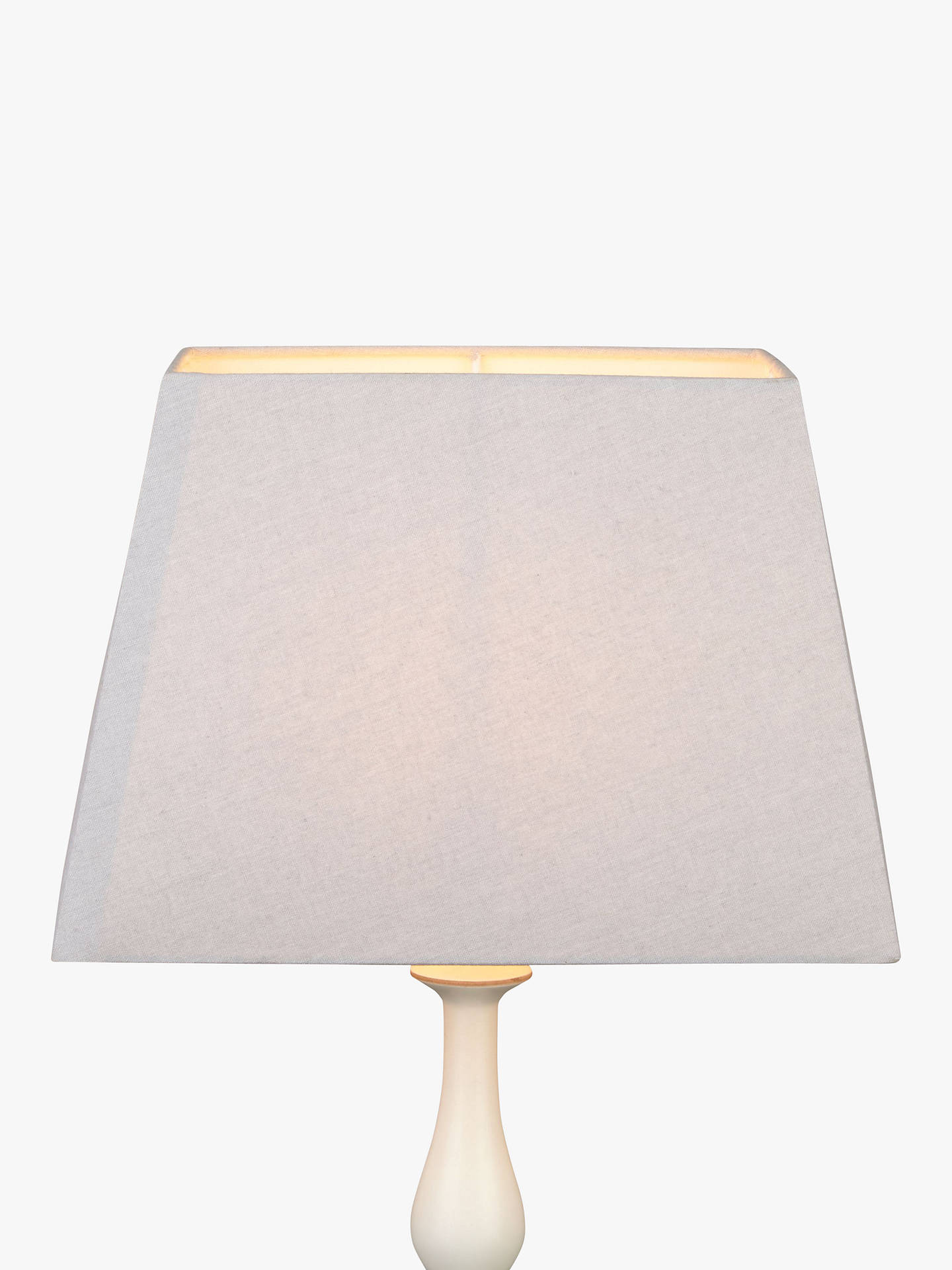 John Lewis Partners Chrissie Rectangular Lampshade Light Grey Dia 20cm Online