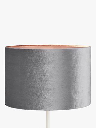 John Lewis Partners Jenny Velvet Cylinder Lampshade