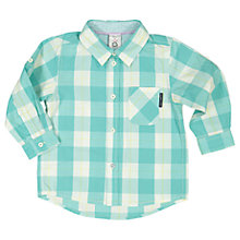 Buy Polarn O. Pyret Baby Checked Shirt, Green Online at johnlewis.com