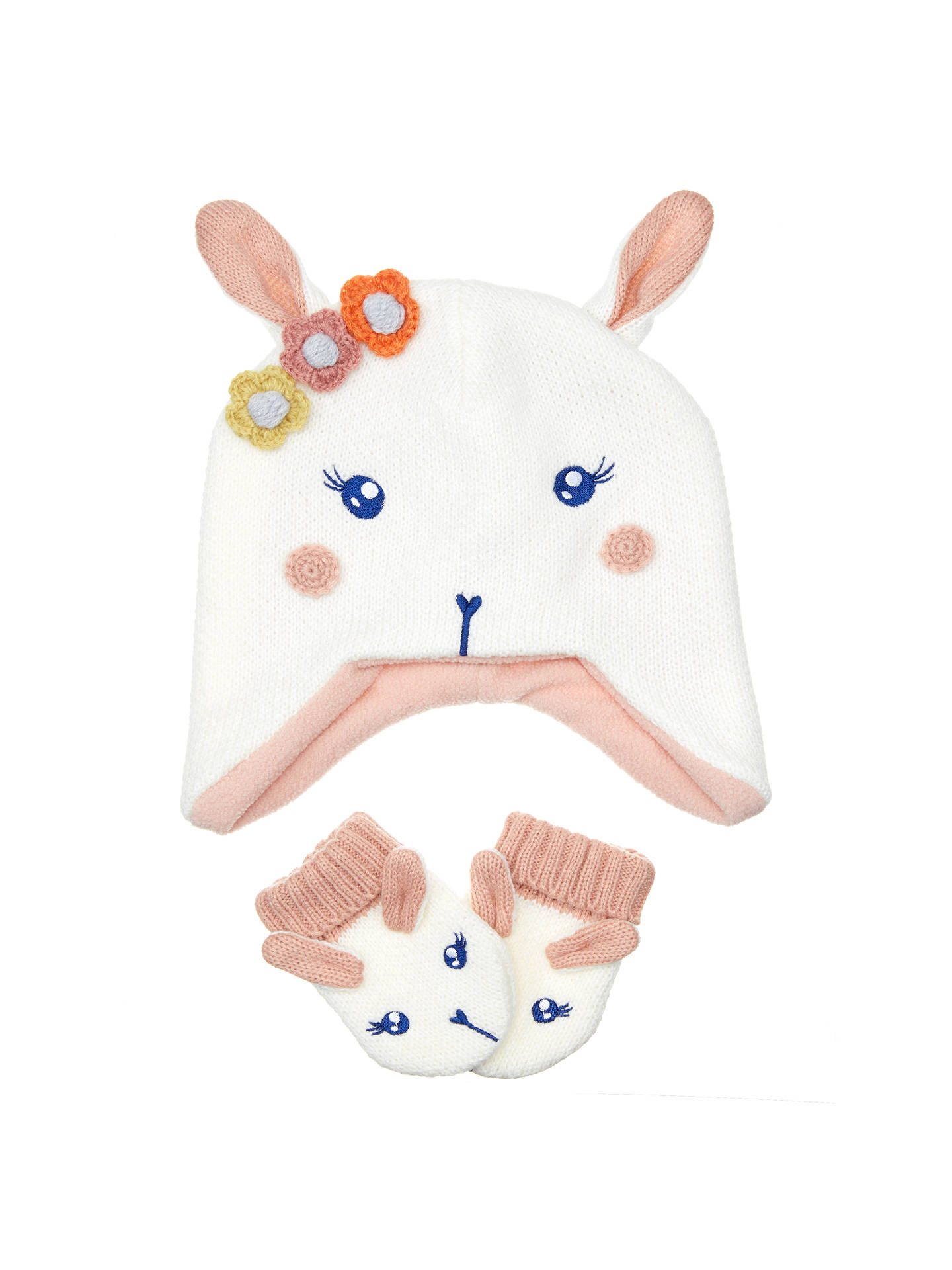 2f6054abc6003 Buy John Lewis Baby Bunny Hat and Glove Set