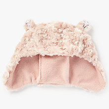 Buy John Lewis Children's Faux Fur Trapper Hat, Pink Online at johnlewis.com