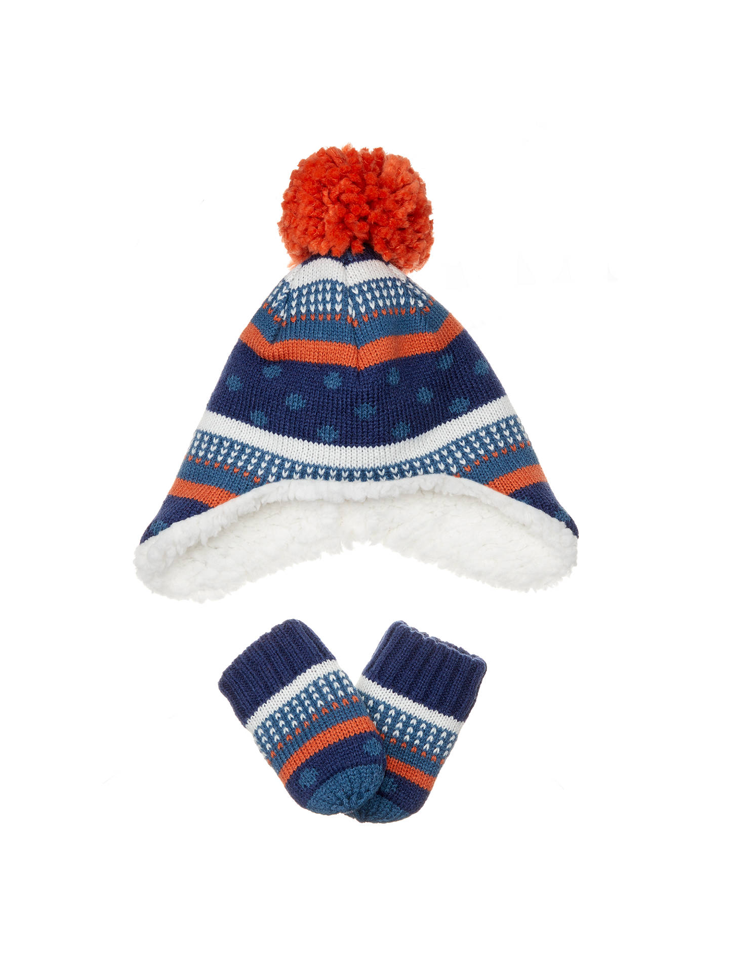 f0aa9362bf2 BuyJohn Lewis Baby Striped Hat and Glove Set