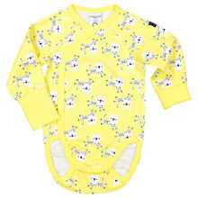 Buy Polarn O. Pyret Baby Leopard Bodysuit, Yellow Online at johnlewis.com