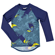 Buy Polarn O. Pyret Children's Toucan UV Swim Top, Blue Online at johnlewis.com