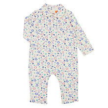 Buy John Lewis Baby Floral Long Sleeve Romper, Cream/Floral Online at johnlewis.com