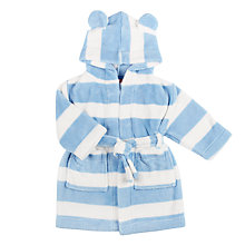 Buy John Lewis Baby Fleece Stripe Robe Online at johnlewis.com