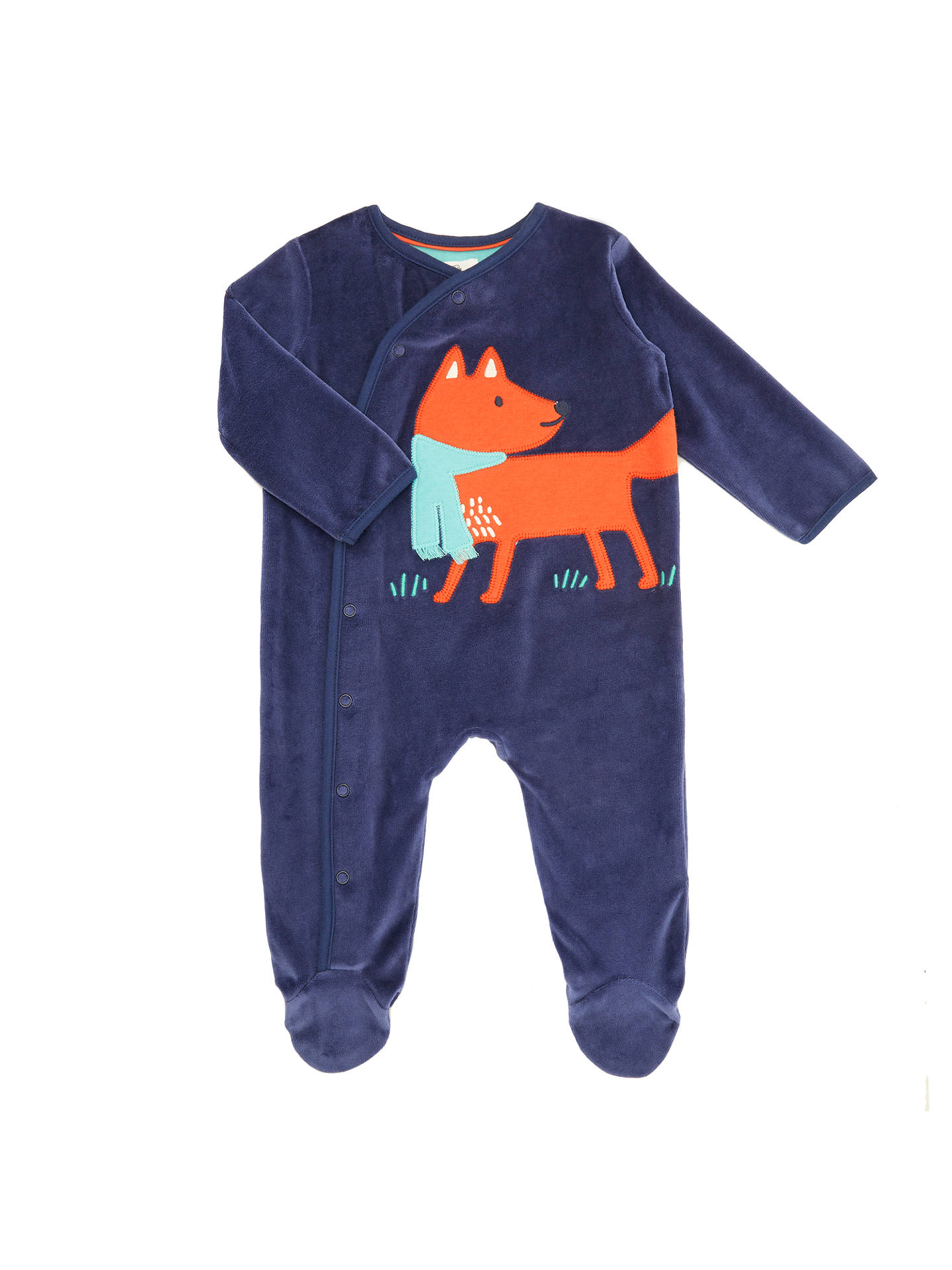d2e60f81a93 Buy John Lewis Baby Velour Plain Fox Sleepsuit