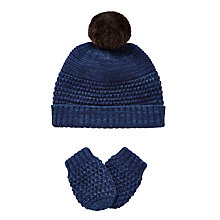 Buy John Lewis Baby's Plain Knit Hat & Glove Set Online at johnlewis.com