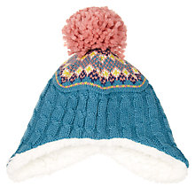 Buy John Lewis Baby Fair Isle Trapper Hat, Teal Online at johnlewis.com