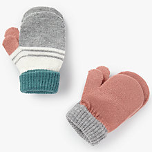 Buy John Lewis Baby Striped Magic Mittens, Pack of 2, Multi Online at johnlewis.com