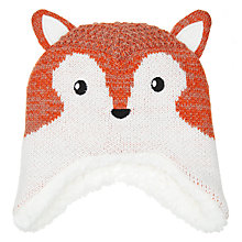 Buy John Lewis Baby Fox Trapper Hat, Brown Online at johnlewis.com