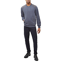 Buy Jaeger Contrast Crew Neck Sweatshirt, Ink Online at johnlewis.com
