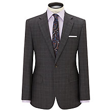 Buy Chester by Chester Barrie Wool Glen Check Tailored Suit Jacket, Grey/Wine Online at johnlewis.com