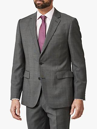 Chester by Chester Barrie Semi Milled Wool Cashmere Tailored Suit Jacket, Charcoal