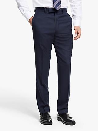 Chester by Chester Barrie Hopsack Wool Tailored Suit Trousers, Navy