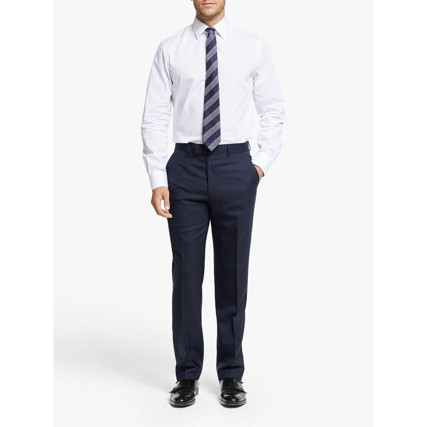 BuyChester by Chester Barrie Hopsack Wool Tailored Suit Trousers, Navy, 32S Online at johnlewis.com