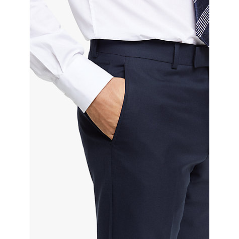 Buy Chester by Chester Barrie Hopsack Wool Tailored Suit Trousers, Navy Online at johnlewis.com