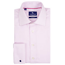 Buy Chester by Chester Barrie Birdseye Weave Tailored Fit Shirt, Pink Online at johnlewis.com