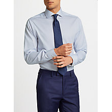 Buy John Lewis Non Iron Bengal Stripe Spread Collar Tailored Fit Shirt, Blue/White Online at johnlewis.com