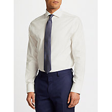 Buy John Lewis Non Iron Dobby Tailored Fit Shirt, Ivory Online at johnlewis.com