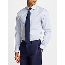 Buy John Lewis Non Iron Bengal Stripe Spread Collar Slim Fit Shirt, Blue/White Online at johnlewis.com