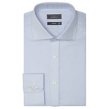 Buy John Lewis Non Iron Semi Plain Tailored Fit Shirt, Sky Blue Online at johnlewis.com