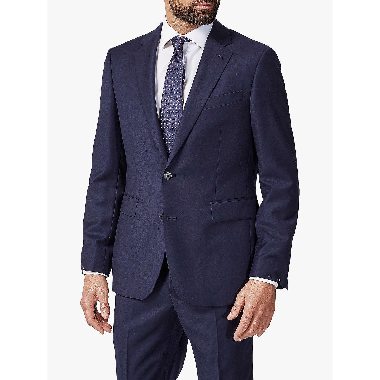 Bleu Hopsack Soie Cravate Chester Barrie DGFFX8S