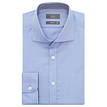 Buy John Lewis Non Iron Dobby Slim Fit Shirt, Blue Online at johnlewis.com