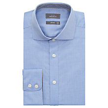 Buy John Lewis Non Iron Dobby Regular Fit Shirt, Blue Online at johnlewis.com