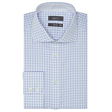Buy John Lewis Non Iron Regular Fit Gingham Shirt, Blue Online at johnlewis.com
