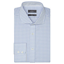 Buy John Lewis Non Iron Tailored Fit Gingham Shirt, Blue Online at johnlewis.com