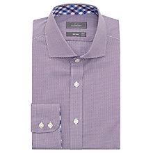 Buy John Lewis Non Iron Semi Plain Tailored Fit Shirt, Berry Online at johnlewis.com