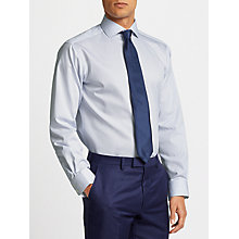 Buy John Lewis Non Iron Bengal Stripe Spread Collar Regular Fit Shirt, Blue/White Online at johnlewis.com