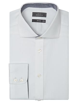 John Lewis & Partners Non Iron Dobby Regular Fit Shirt, White