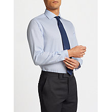 Buy John Lewis Non Iron Slim Fit Gingham Shirt, Blue/White Online at johnlewis.com