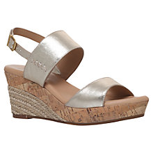 Buy UGG Elena Wedge Heeled Sandals, Gold Online at johnlewis.com