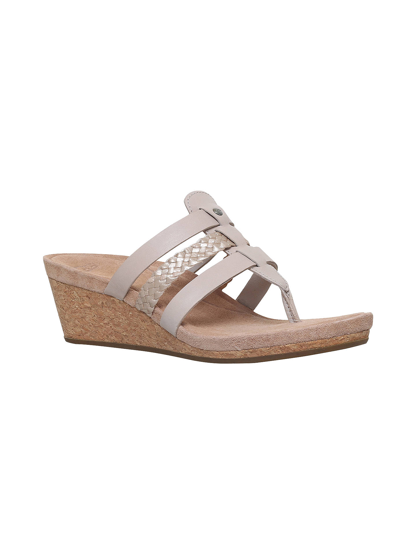 855a7b0f99 Buy UGG Maddie Wedge Heeled Sandals, Beige Comb, 3 Online at johnlewis.com  ...