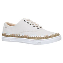 Buy UGG Eyan II Lace Up Plimsolls, Winter White Online at johnlewis.com