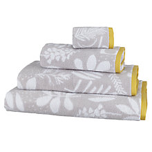 Buy John Lewis Scandi Astrid Towels, Grey/Citrine Online at johnlewis.com