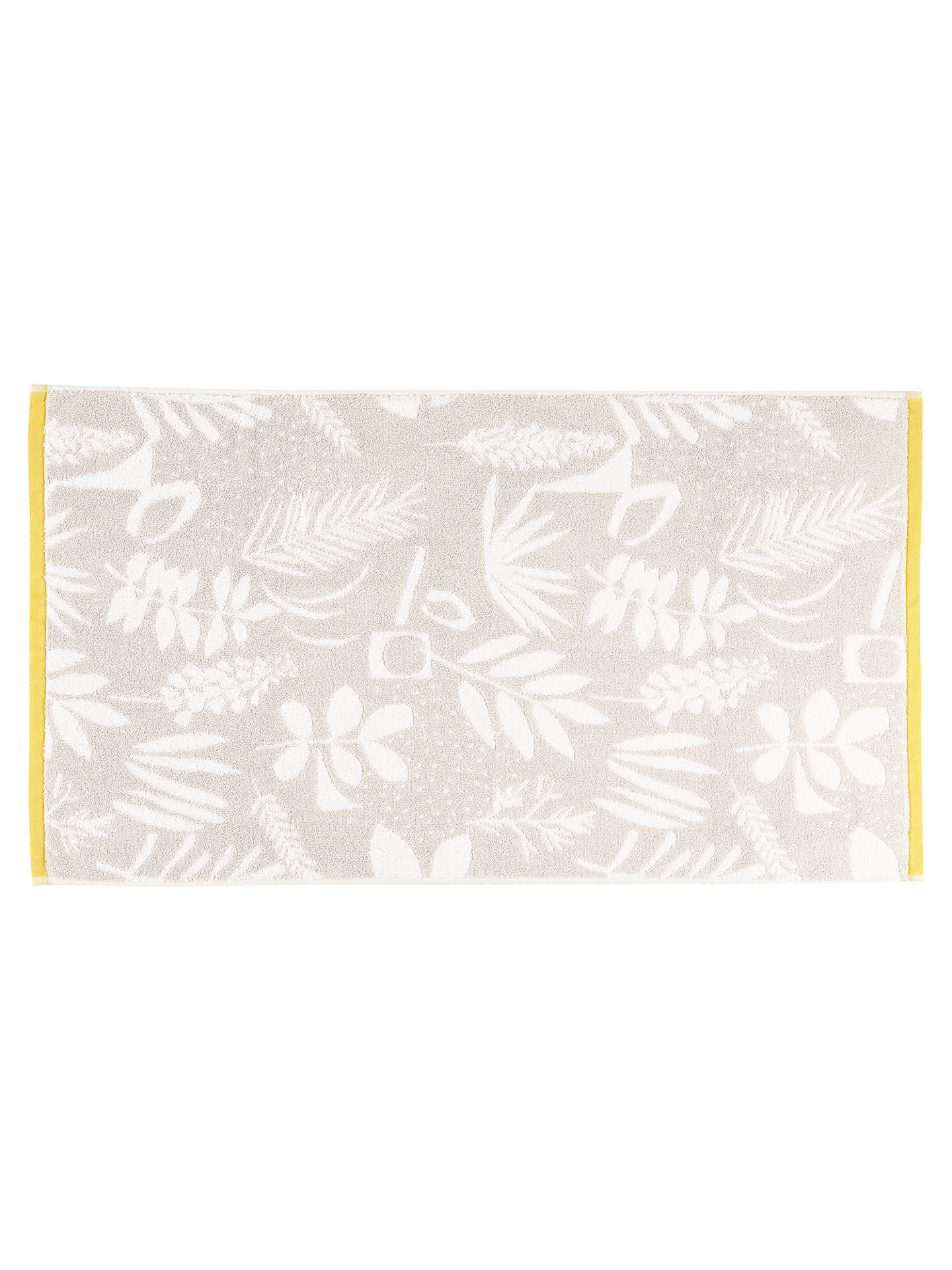 BuyJohn Lewis & Partners Scandi Astrid Face Cloth, Grey/Citrine Online at johnlewis.com