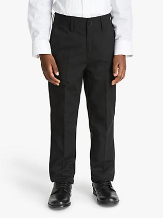John Lewis & Partners Heirloom Collection Boys' Tuxedo Trousers, Black