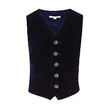 Buy John Lewis Heirloom Collection Boys' Velvet Waistcoat, Royal Blue Online at johnlewis.com