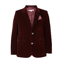 Buy John Lewis Heirloom Collection Boys' Velvet Jacket, Burgundy Online at johnlewis.com