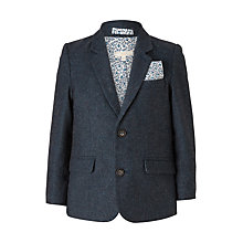Buy John Lewis Heirloom Collection Boys' Flap Pocket Wool Blazer Jacket, Teal Online at johnlewis.com