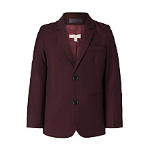 Buy John Lewis Heirloom Collection Boys' Party Jacket, Burgundy Online at johnlewis.com