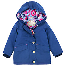 Buy Hatley Girls' Cotton Sketch Flower Coat, Navy Online at johnlewis.com