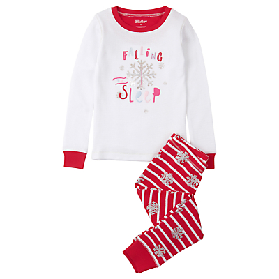 Product photo of Hatley children s falling to sleep pyjamas white red