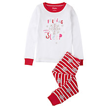 Buy Hatley Children's Falling to Sleep Pyjamas, White/Red Online at johnlewis.com