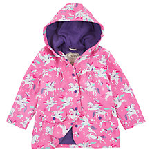 Buy Hatley Girls' Unicorn Print Raincoat, Pink Online at johnlewis.com