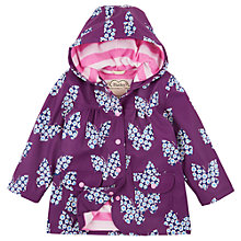 Buy Hatley Girls' Floral Butterfly Raincoat, Purple Online at johnlewis.com